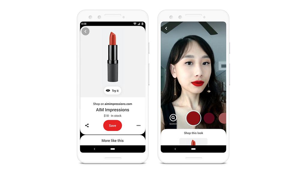Pinterest AR – išbandyk lūpdažį!