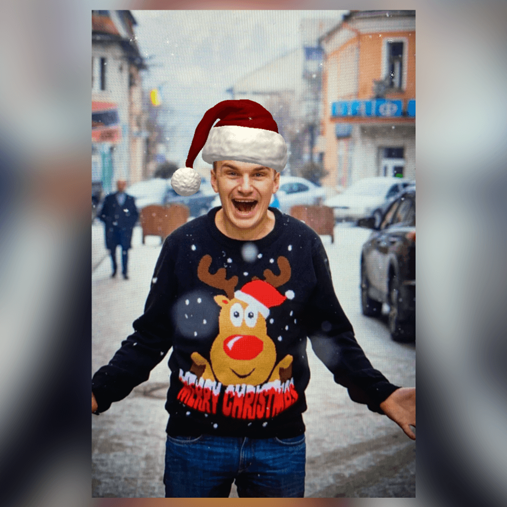 2D ir 3D objektai: Kalėdinės kepurės efektas